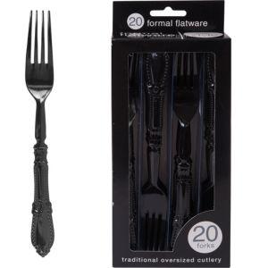 Formal Black Forks 20ct