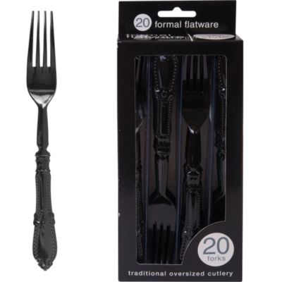 Formal Black Forks 20ct