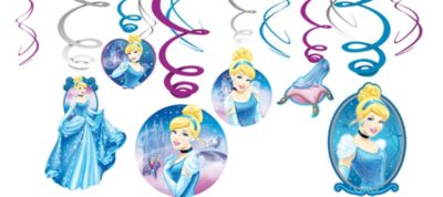 Cinderella Hanging Decorations 12ct