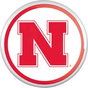 Nebraska Cornhuskers Button