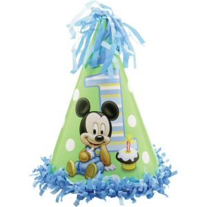 1st Birthday Mickey Mouse Party Hat