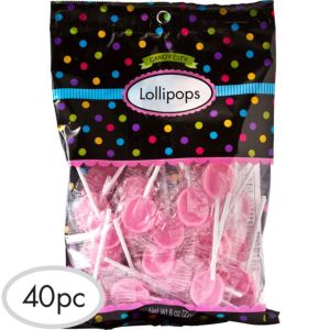 Pink Lollipops 40pc
