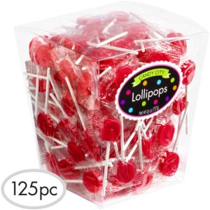 Red Lollipops 125pc