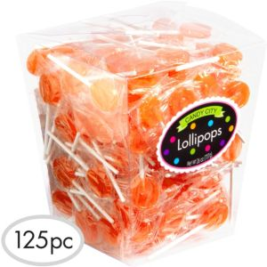 Orange Lollipops 125pc