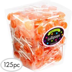 Orange Lollipops 125pc
