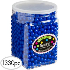 Royal Blue Chocolate Sixlets 1330pc