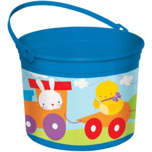 Blue Plastic Easter Bucket
