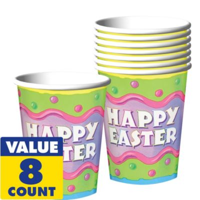 Happy Easter Cups 8ct