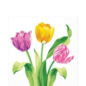Spring Tulips Lunch Napkins 16ct