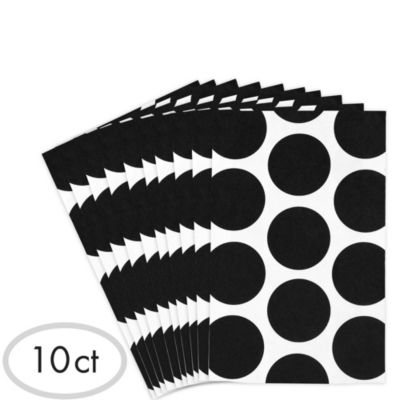 Black Dot Paper Favor Bags 10ct