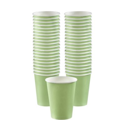 BOGO Leaf Green Paper Coffee Cups 12oz 40ct