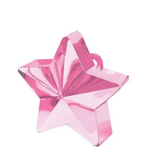 Pink Star Balloon Weight 6oz