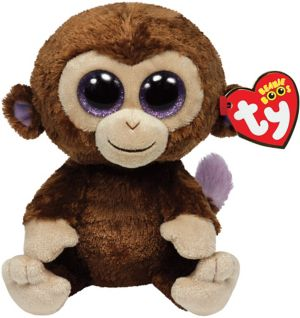 Coconut Beanie Boo Monkey Plush