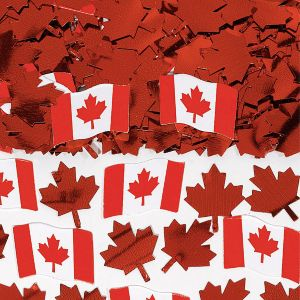 Canadian Flag Confetti 0.5oz