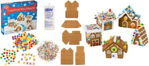 Gingerbread Mini Village Kit 33pc