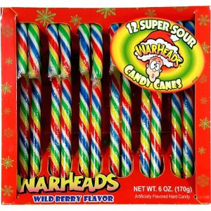 Warheads Candy Canes 12ct