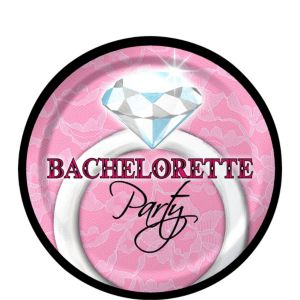 Sassy & Sweet Bachelorette Party Dessert Plates 8ct