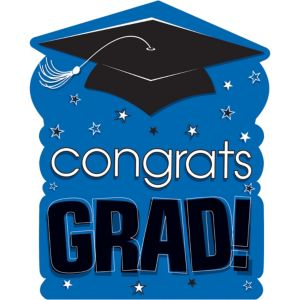 Royal Blue Congrats Grad Cutout