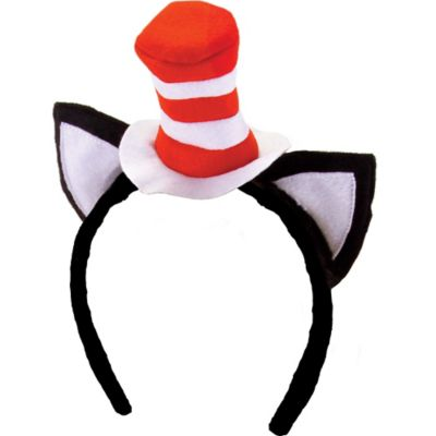 Mini Cat in the Hat Headband with Ears