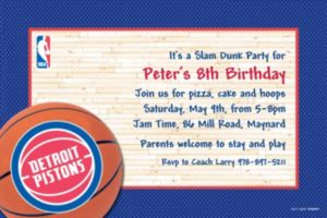 Custom Detroit Pistons Invitations