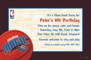 Custom Orlando Magic Invitations