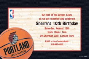 Custom Portland Trail Blazers Invitations