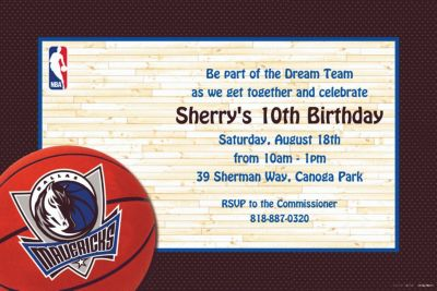 Custom Dallas Mavericks Invitations