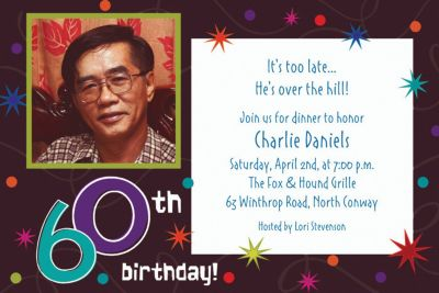Custom The Party Continues 60th Birthday Photo Invitations