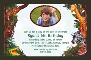 Custom Jungle Safari Photo Invitations