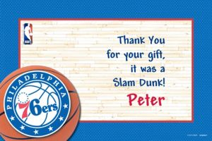 Custom Philadelphia 76ers Thank You Notes