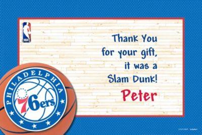 Philadelphia 76ers Custom Thank You Note