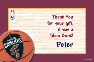 Custom Cleveland Cavaliers Thank You Notes