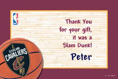 Cleveland Cavaliers Custom Thank You Note