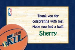 Custom Utah Jazz Thank You Notes