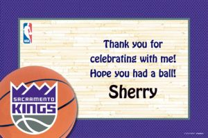 Custom Sacramento Kings Thank You Notes