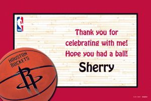 Custom Houston Rockets Thank You Notes