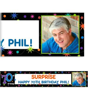 Custom The Party Continues 70th Photo Banner 6ft