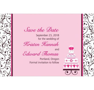 Sweet Custom Wedding Invitation