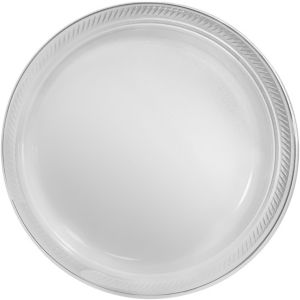 CLEAR Plastic Dinner Plates 20ct