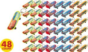 Cars Skateboard Keychains 48ct