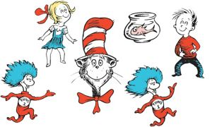 Cat in the Hat Character Cutouts 6ct