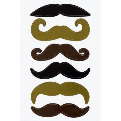 Moustache Magnets 6ct