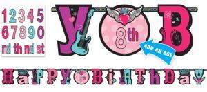 Rocker Girl Letter Banner 10ft