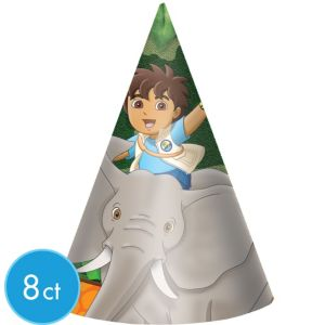 Go, Diego, Go! Party Hats 8ct
