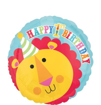 1st Birthday Balloon - Fisher-Price Lion
