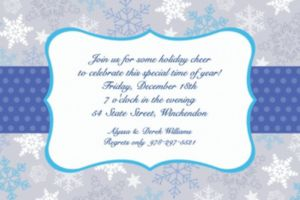 Custom Stylish Snowflake Border Invitations
