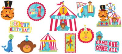 1st Birthday Fisher-Price Circus Cutouts 12ct