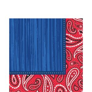Bandana & Blue Jeans Lunch Napkins 16ct