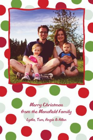 Custom Pert Polkadots Christmas Photo Card
