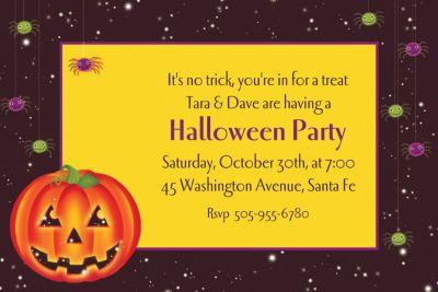 Custom Perfect Pumpkin Halloween Invitations